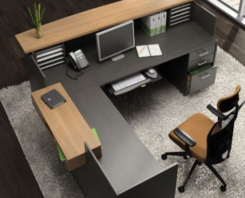 Common Sense Office Furniture carries a large number of reception desks from different manufacturers, from Global to Enwork.