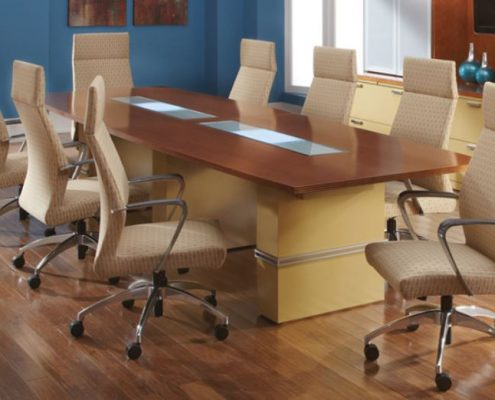 Common Sense Office Furniture carries a large number of conference chairs from different manufacturers, like SitOnIt or JSI.