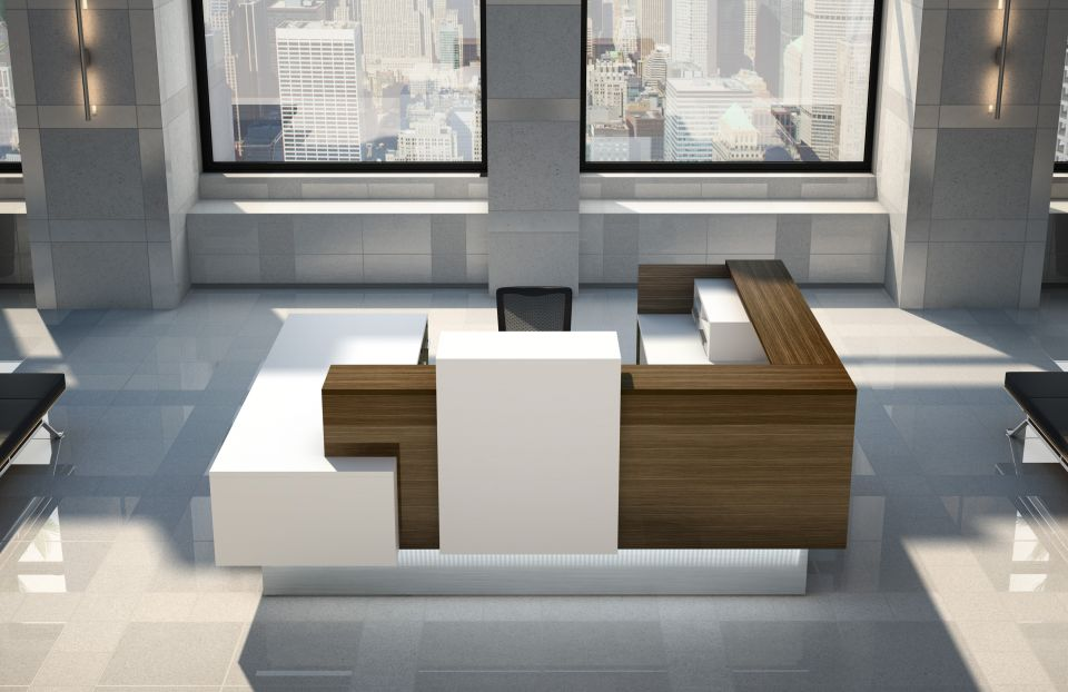 Inbox reception furniture in U-shape
