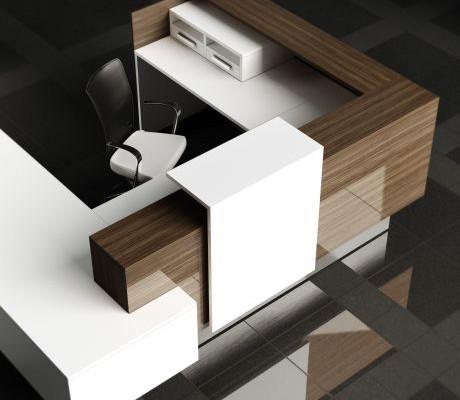 Inbox reception furniture in U-shape
