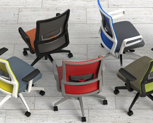 Common Sense Office Furniture carries a large number of task chairs from different manufacturers, like SitOnIt or JSI.