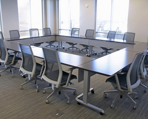 Common Sense Office Furniture makes sure to keep a large variety of training tables available to customers, from enwork to versteel.
