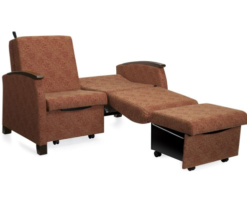 Common Sense of Orlando carries hospital chairs from several manufacturers, from lay-z boy recliners to Global.