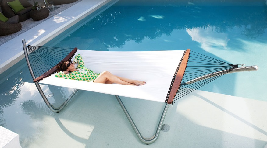 Common Sense Office Furniture carries a focused selection of lounge hammocks and other outdoor accessories like cordless LED lighting.