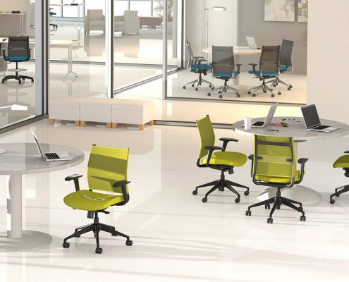SitOnIt Wit task chairs in a large open office setting