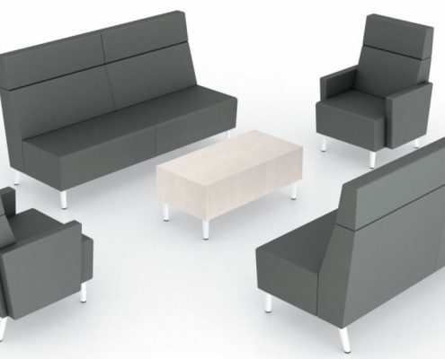 Common Sense Office Furniture carries a wide variety of collaborative seating from different manufacturers, like SitOnIt or JSI.