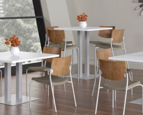 Versteel Platform allows the user to make all of the decisions and choose from a variety of breakroom tables