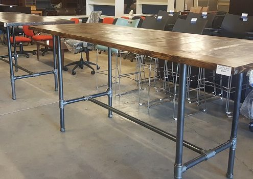 Common Sense Office Furniture also produces custom locally-built tables for restaurants or collaborative spaces.