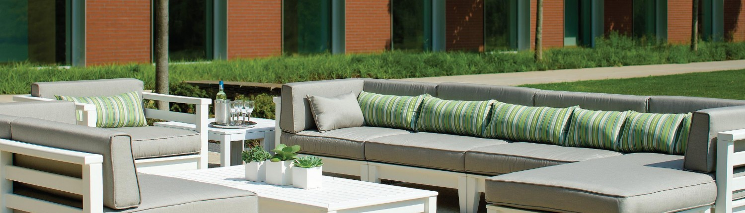We have access to a range of manufacturers who specialize in outdoor furniture, built to last and withstand the elements.
